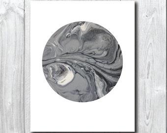 Grey Moon 2 moon/Planet Art/wall Print A5,20x25,A3