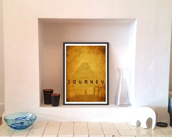 Journey game - Vintage style - Mountain - Self discovery - Premium A2 LARGE Poster Print