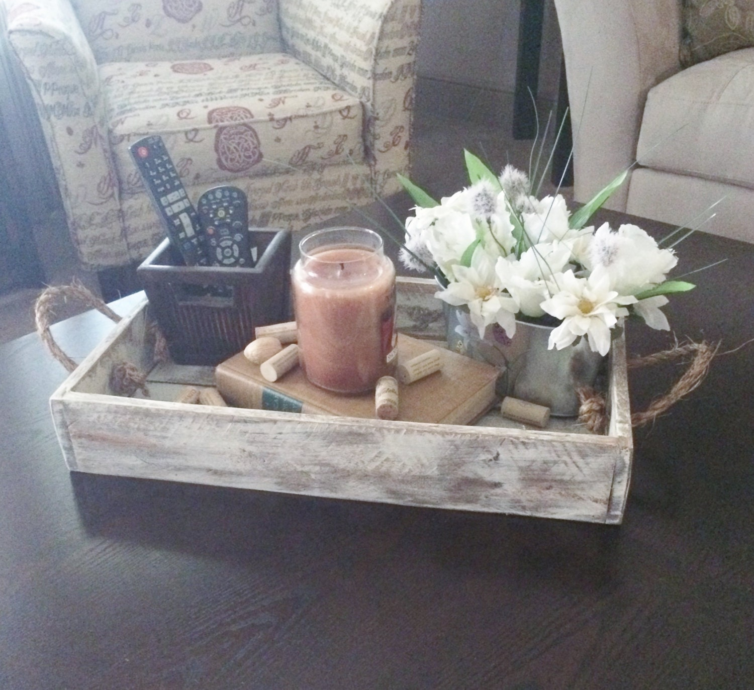 Wood Tray Rustic Serving By PureHomeWorks