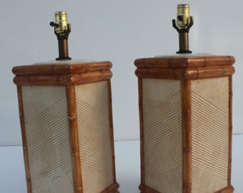Pair The Vintage Italian Ceramic Lamps