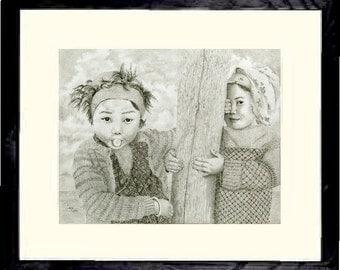 Tibetian Gum Girl