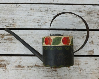 Hand Painted Vintage Watering Can