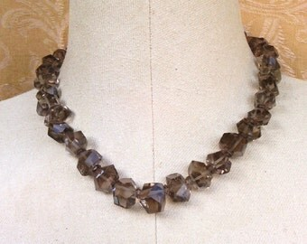 necklace with smoky quartz