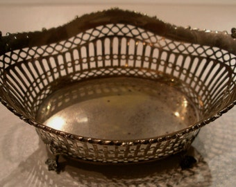 Antique 850 Silver Chocolate/Sweets basket. Dutch XIX c. Weight: 90.5gr.