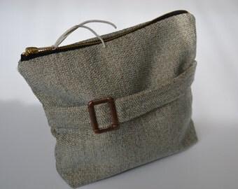 Small Traveler Pouch,The Original Writer's Pouch // linen zipper pouch // wallet // HONEYBEE
