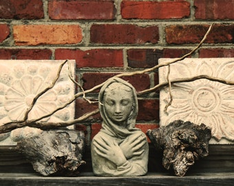 Mother Nature Statue, Brick and Stone, Garden Statue Decoration