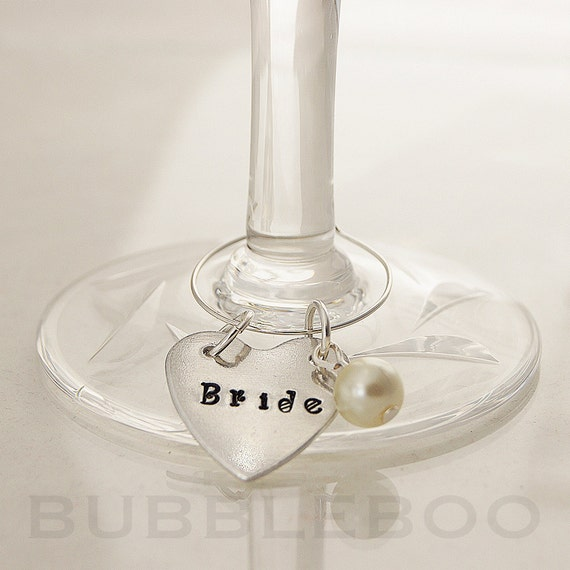wine glass charms personalised shaped sted