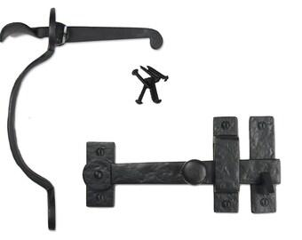 Drop Bar & Bean Thumb Latch Gate Kit- Solid Cast Iron