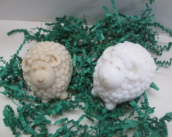 Cute sheep soap in Oatmeal or Gentle Buttermilk, kid's soap, decorative gift soap, kid's soap, party favor