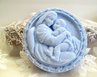 Madonna and Child decorative soap, Mother and Child, Gift soap, religious theme soap, baby shower gift