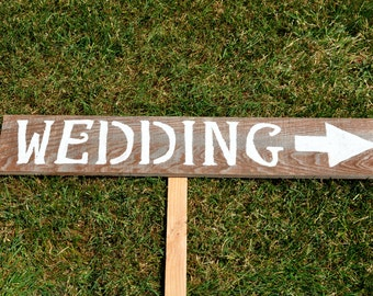 rustic wedding signs, wedding sign, rustic wedding sign, country wedding sign, rustic wedding decor, barn wedding decor sign, direction sign