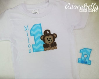 Personalized Custom Shirt with Monkey You Choose Number and Name