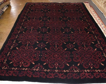 Hand knotted Mongolian Vintage rug