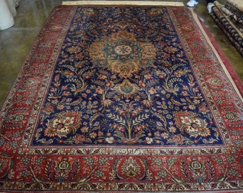 Semi Antique Persian Tabraiz Hand knotted rug