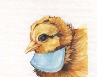 Baby Chick | 4x6 Original Watercolor