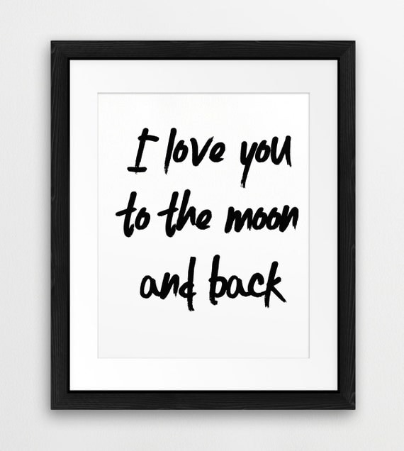 I Miss You To The Moon And Back Quotes: I Love You To The Moon And Back Quote Typography By Synplus