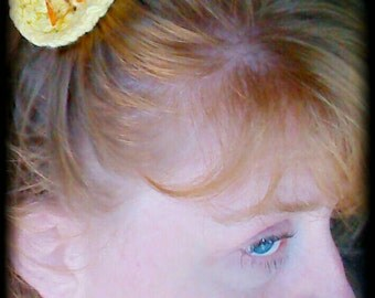 Summer Yellow Poppy hair accessory for women and girls.