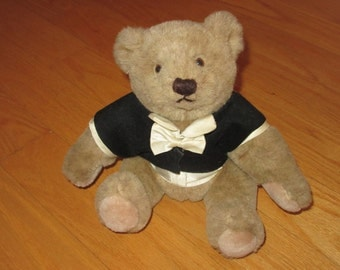 Vintage Gund Bear in Formal Tie and Tails