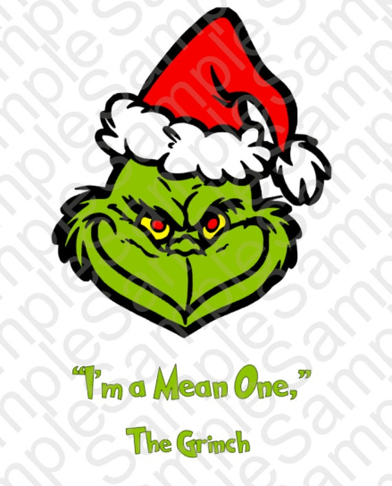 Mean One Grinch Inspired T Shirt Face SVG by BrocksPlayhouse