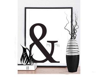 Typography Home Decor Housewarming gift Anniversary Gift Wedding Gift Typography Wall Art Typography Gift Newlywed Gift Typography Printable
