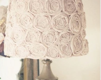Beige (or any custom color) Vintage Flower Lamp Shade  FREE SHIPPING!!!