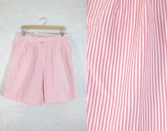 Mens Seersucker Shorts Size 34 Waist Mens Shorts Waist 34