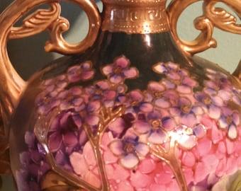 VINTAGE handpainted ceramic URN