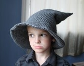 SALE - Handmade Crocheted Wizard Hat - made to order