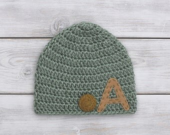 Personalized Monogrammed Crochet Hat
