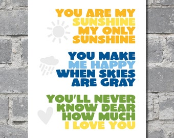 You Are My Sunshine (8x10) DIGITAL FILE