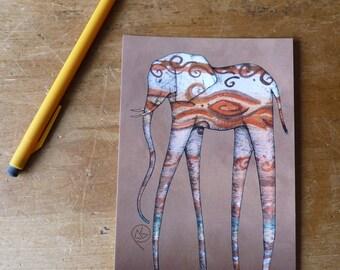 Elephant Jupiter Postcard Print