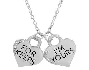 Swarovski Elements 'I'm Yours' 'For Keeps' Pendants