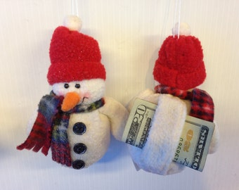 Snowman Gift Card/Money Holder