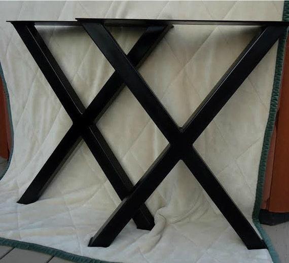 X Table Legs 28.5 Steel Tube Table Legs Custom By