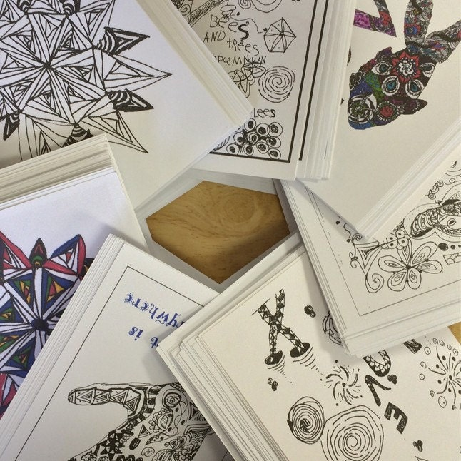 Zentangle Greeting Cards Set Of 12 Designs