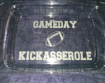 Gameday Kickasserole Pyrex Casserole Dish