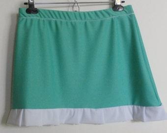 Turquoise Ruffle Skirt, Women's S