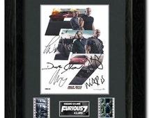 Fast & Furious 7 35 mm Framed Film Cell Display Comic Con Fan Art Signed Vin Diesel ,Paul walker