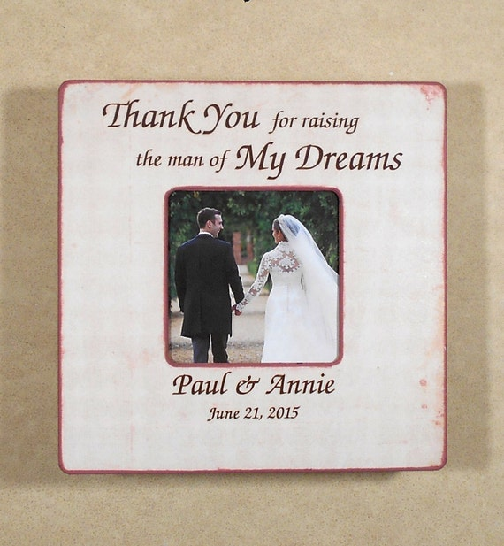 Wedding Gift From Mom To Son : PARENTS WEDDING GIFT 8X8 Personalized Thank You For Raising Your Son ...
