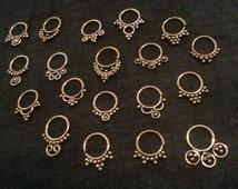 SPECIAL DEAL brass septum's nose piercing earring