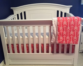 Coral Arrows Baby Bedding Set