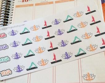 36 Yoga stickers
