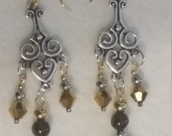 Amber accent Earrings