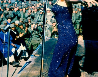 Marilyn Monroe Performing For The Troops USO Poster Art Photo 12x18