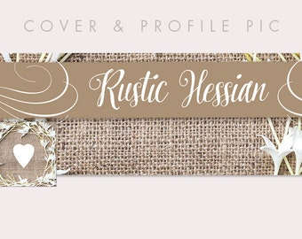 Rustic Timeline Cover + Profile Picture | Hessian / Burlap Country | Cover, Profile Picture, Branding, Blog Header, Website Banner