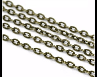 Antiqued Bronze Cable Chain | 3mm x 2mm | CH1010