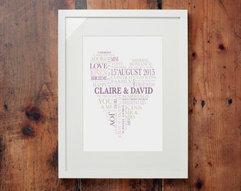 Personalised Marriage - Framed Print