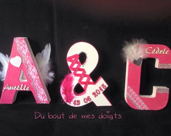 personalized married initials/Monogram