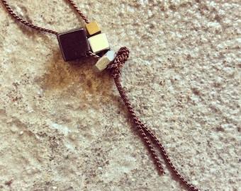 hem cube necklace