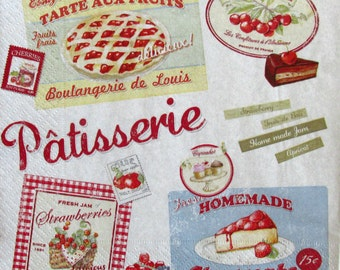 Decoupage paper napkins Decoupage paper Napkin for decoupage Eat Patisserie Cheesecake France